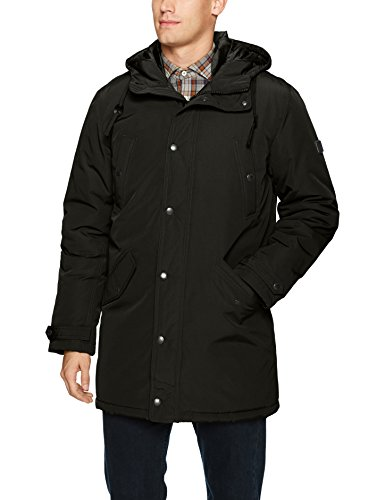Ben Sherman Men's Long Parka Jacket, Black, M