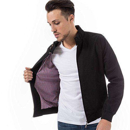 Ben Sherman Men's Classic Harrington Jacket L Black