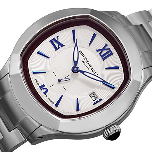 Bruno Magli Men's 1041 Swiss Quartz Stainless Steel Bracelet Watch