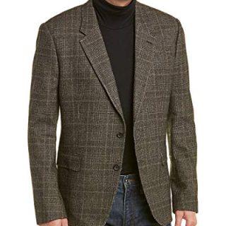 Billy Reid Mens Walton Wool-Blend Sportcoat, 40R, Grey