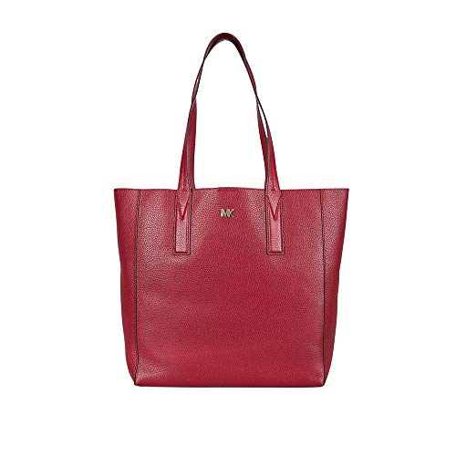 MICHAEL Michael Kors Junie Large Pebbled Leather Tote, Color 550 Maroon