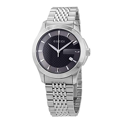 Gucci Grey Dial Men's Stainless Steel Watch