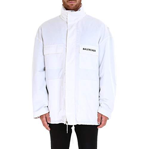 Balenciaga Men's White Polyester Outerwear Jacket