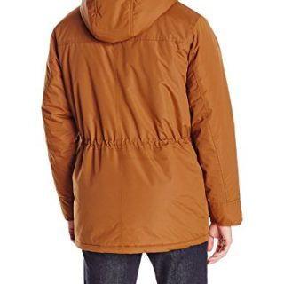 Ben Sherman Men's Parka Jacket with Sherpa Hood Lining, Raw Leather, L