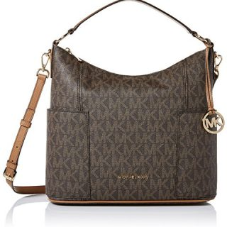 Michael Kors Anita Signature Large Convertible Women's Handbag in Brown/Acorn