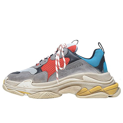 Balenciaga Men's & Women's Vintage Triple S Trainers Fashion Sneakers Blue (Size 44)