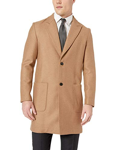 Billy Reid Men's Camel Hair Single Breasted Gregory Car Coat, XXL