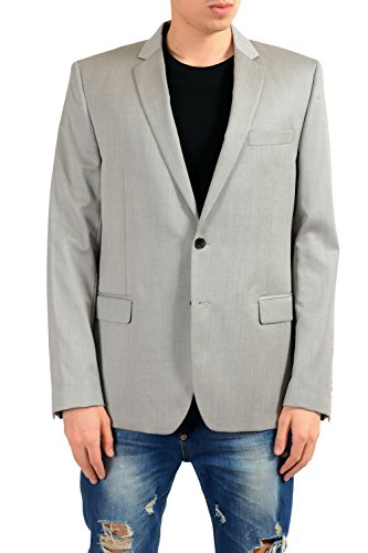 Versace Collection Men's 100% Wool Gray Blazer Sport Coat