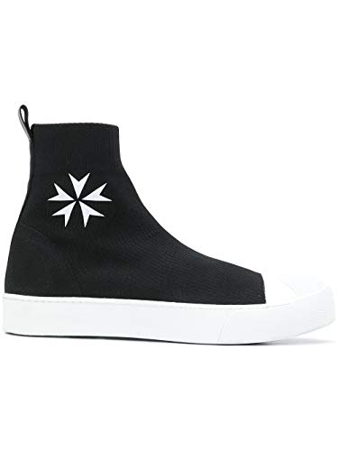 Neil Barrett Men's Black Polyester Slip On Sneakers