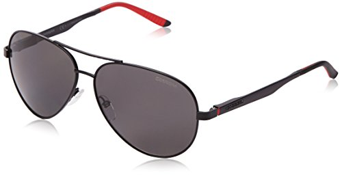 Carrera Polarized Aviator Sunglasses, Matte Black & Gray Polarized, 59 mm