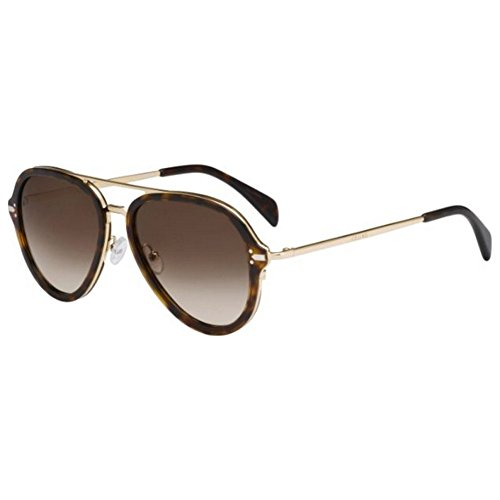 Sunglasses Celine Dark Havana Gold / 9J gray polarized lens