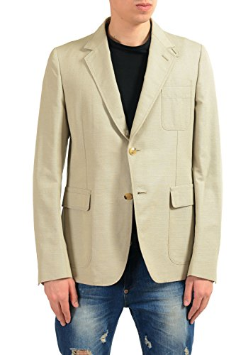 Gucci Men's Mohair Beige Two Button Blazer Sport Coat