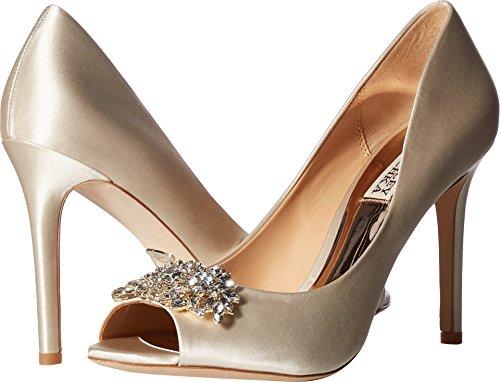 Badgley Mischka Women's PALOMA Pump, Ivory Satin