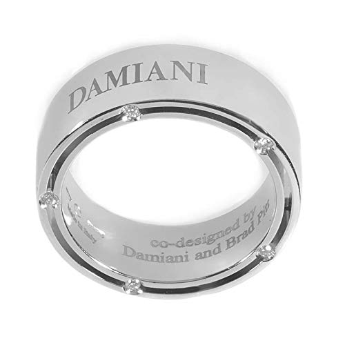 Damiani D.Side Brad Pitt 18K White Gold 10 Diamond Band Ring