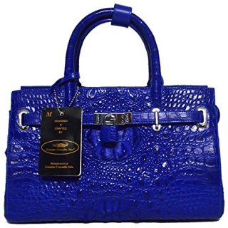 Authentic M Crocodile Skin Womens Hornback Locked Clutch Bag