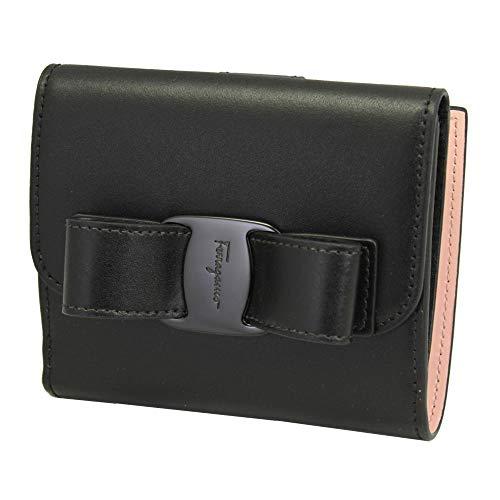 Salvatore Ferragamo Vara Black Leather bifold Wallet Nero