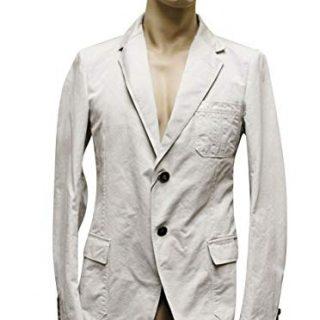 Gucci 2 Button Beige Cotton Blazer Jacket