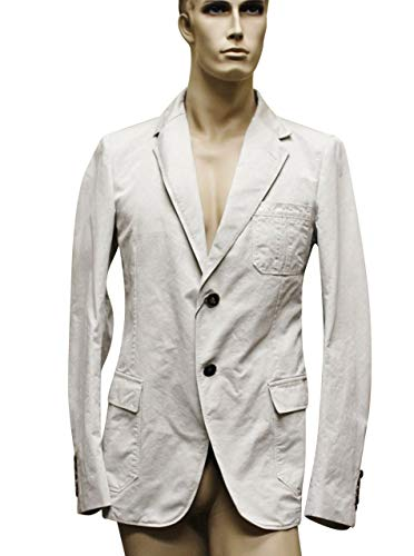Gucci 2 Button Beige Cotton Blazer Jacket