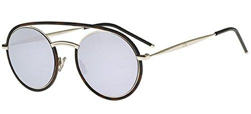 Dior Homme Havana Silver Syntesis01 Round Sunglasses Lens