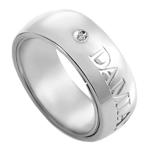 Damiani Orbital 18K White Gold Band Ring