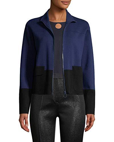 Akris Womens Punto Wool Colorblocked Jacket, 12