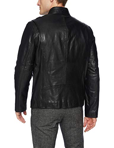 Andrew Marc Mens Emerson Calfskin Leather Jacket