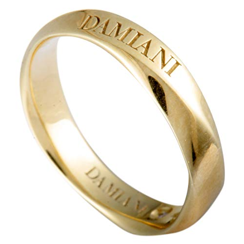 Damiani Wedding Bands 18K Yellow Gold Internal Diamond Faceted Band Ring