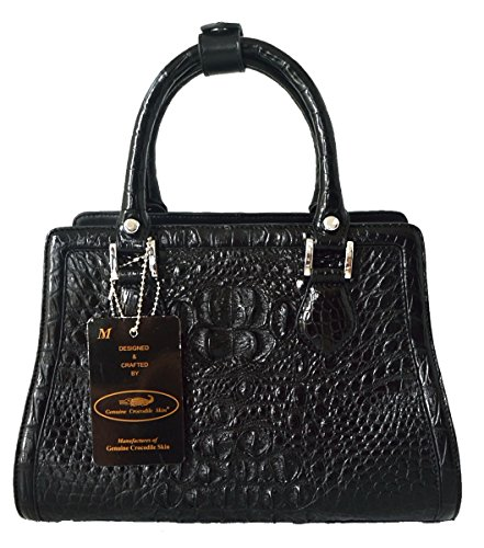Authentic M Crocodile Skin Womens Hornback W/Straps Bag