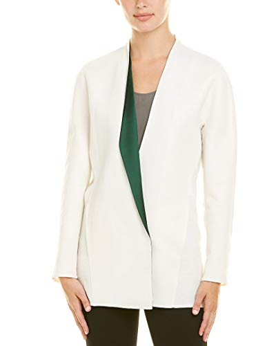Akris Womens Linen-Blend Silk-Lined Jacket, 8, White