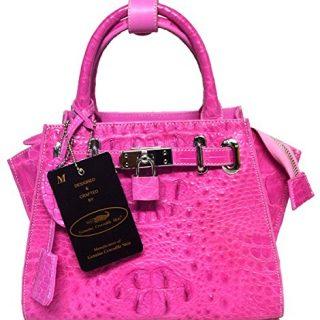 Authentic M Crocodile Skin Womens Hornback W/Strap Hobo Bag