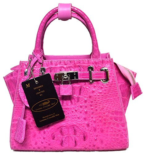 Authentic M Crocodile Skin Womens Hornback W/Strap Hobo Bag