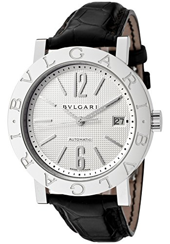Men's Bulgari Bulgari Mechanical/Automatic Off White Dial Black