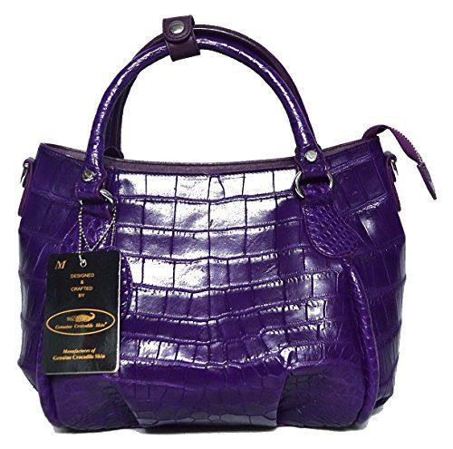 Authentic M Crocodile Skin Womens Belly W/Strap Hobo Bag