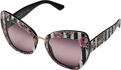 Dolce & Gabbana Women's Rose Cat Eye Sunglasses, Rose/Pink Purple, One Size