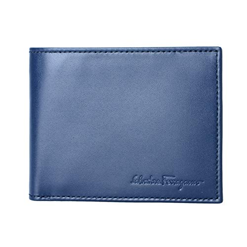 Salvatore Ferragamo 100% Leather Blue Women's Bifold Wallet