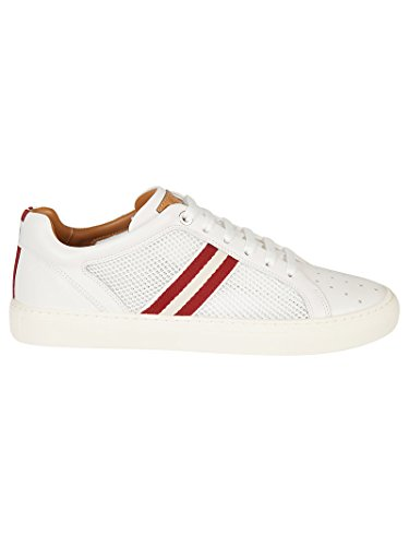 BALLY Men's White Leather Sneakers