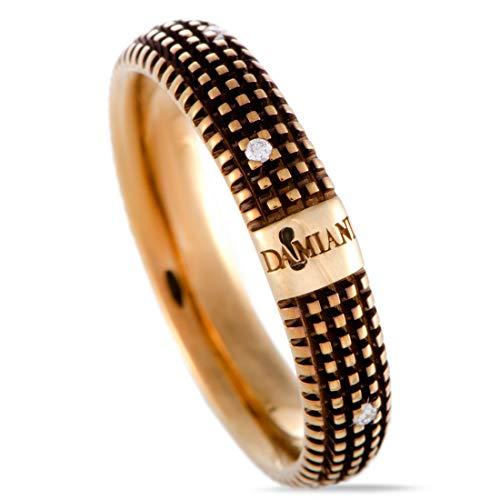 Damiani Metropolitan 18K Yellow Gold and Brown Rhodium 9 Diamonds