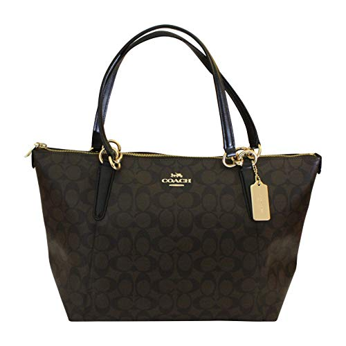 Coach Ava Tote in Signature Brown/Black/Gold
