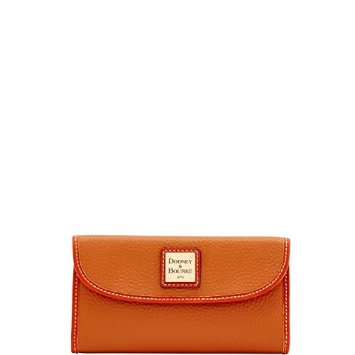 Dooney & Bourke Pebble Continental Clutch Caramel