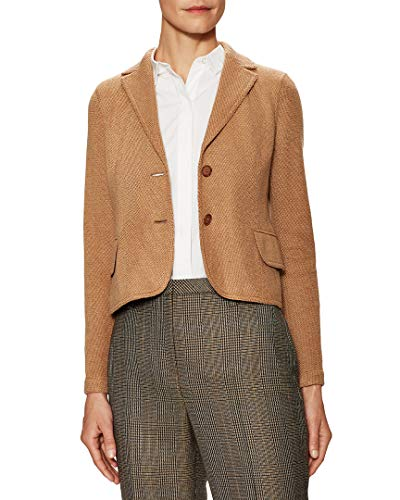 Akris Womens Beatle Split Cuff Jacket, 8 Tan