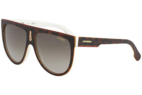 Carrera Men's Flagtops Round Sunglasses, Havana White/Brown Gradient, 60 mm