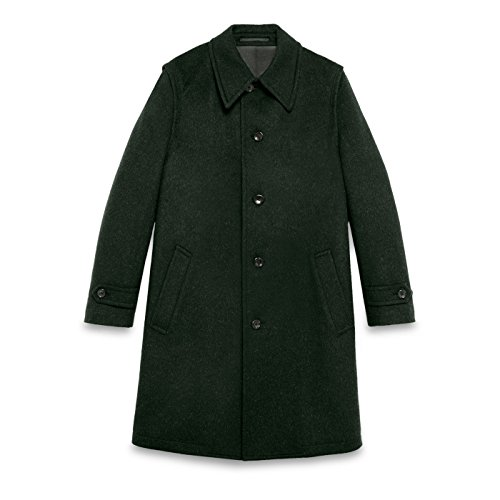 Gucci Men's Green 100% Wool Loden Single Breasted Long Coat