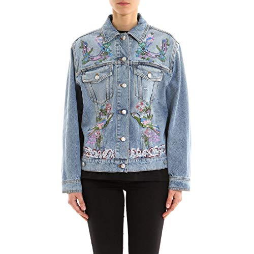 Alexander McQueen Women's Light Blue Cotton Jacket