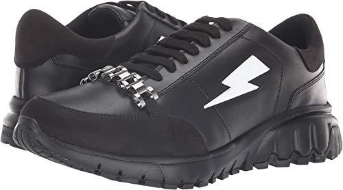 Neil Barrett Men's Metal Runner Sneaker Black