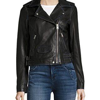 Marc New York Whitney Moto Leather Jacket-Black-L