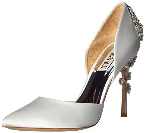 Badgley Mischka Women's Vogue Pump, Soft White Satin, 10 M US