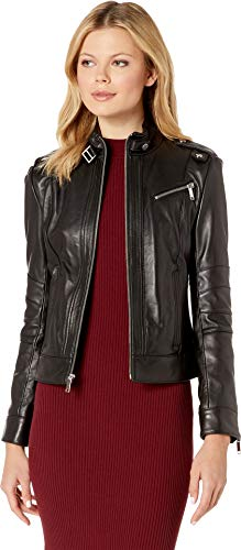 Marc New York by Andrew Marc Women's Rego Smooth Lamb Moto Jacket