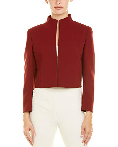 Akris Womens Wool-Blend Jacket, 14, Red
