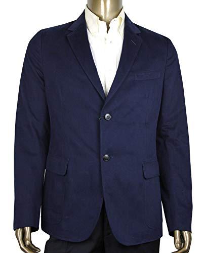 Gucci Men's Caspian Brushed Blue Cotton 2 Buttons Jacket