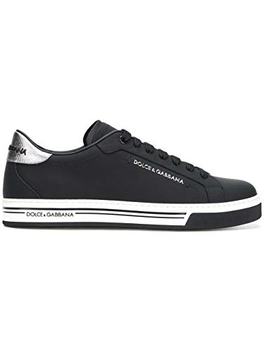 Dolce e Gabbana Men's Black Leather Sneakers